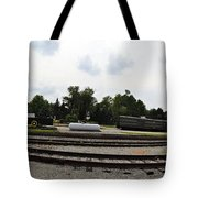 The Railroad From The Series View Of An Old Railroad Tote Bag