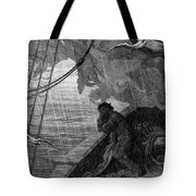 The Rain Begins To Fall Tote Bag by Gustave Dore