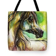 The Rainbow Colored Arabian Horse Tote Bag