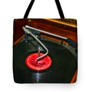 The Record Player Tote Bag