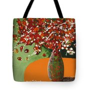The Red And Green Vase Tote Bag
