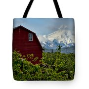 The Red Barn And Mt. Hood Tote Bag