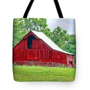 The Red Barn - Featured In Old Buildings And Ruins Group Tote Bag