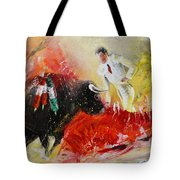 The Red Barrier Tote Bag