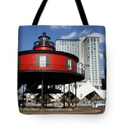 The Red Beacon From Baltimore Harbor Tote Bag