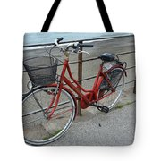 The Red Bicycle Tote Bag