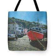 The Red Boat Polperro Corwall Tote Bag