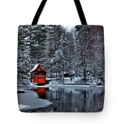 The Red Boathouse - Old Forge Ny Tote Bag