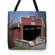 The Red Bridge Or Wertz's Cover Bridge Tote Bag
