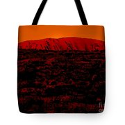 The Red Center D Tote Bag