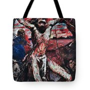 The Red Christ Tote Bag