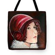 Red Cloche Tote Bag