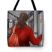 The Red Coat Tote Bag