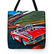 The Red Corvette Tote Bag