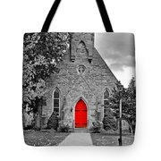 The Red Door Monochrome Tote Bag