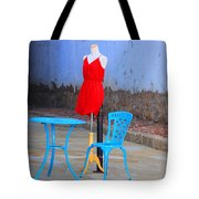 The Red Dress Lunch Special Tote Bag
