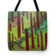 The Red Forrest Tote Bag