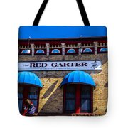 The Red Garter Tote Bag
