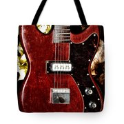 The Red Guitar Blues Tote Bag by Bill Cannon
