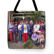 The Red Hat Ladies At The Catfish Plantation Tote Bag