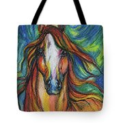 The Red Horse Tote Bag