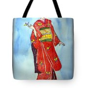 The Red Kimono Tote Bag