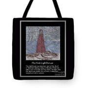 The Red Lighthouse Tote Bag