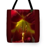 The Red Lily Tote Bag