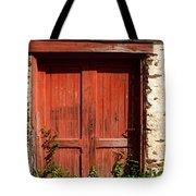 The Red Mill Door Tote Bag