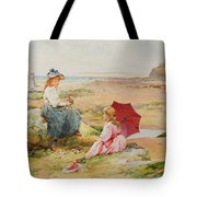 The Red Parasol Tote Bag by Alfred Glendening Jr