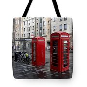 The Red Phone Booth Tote Bag
