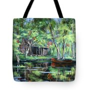 The Red Pirogue Tote Bag