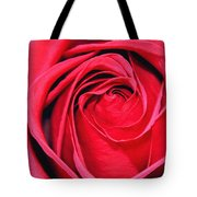 The Red Rose Blooming Tote Bag