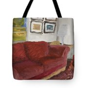 The Red Sofa Tote Bag
