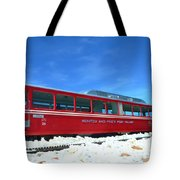 The Red Train Tote Bag
