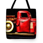 The Red Truck Tote Bag