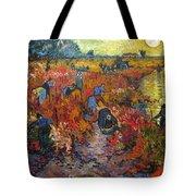 The Red Vineyard Tote Bag