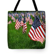 The Red White And Blue  American Flags Tote Bag