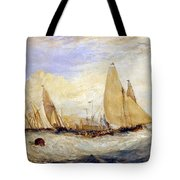 The Regatta Beating To Windward Tote Bag