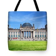 The Reichstag Building Berlin Germany Tote Bag
