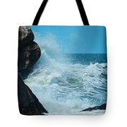 The Restless Sea Digital Art Tote Bag