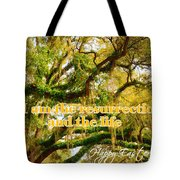 The Resurrection And The Life Tote Bag