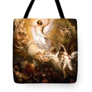 The Resurrection Tote Bag by Munir Alawi