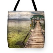 The Rickety Pier Tote Bag