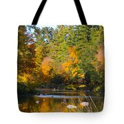 The River Flows Tote Bag