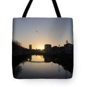 The River Swiffey At Sunrise - Dublin Ireland Tote Bag