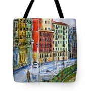 The Riverside Houses At Bilbao La Vieja Tote Bag