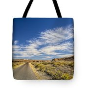 The Road Goes On Forever Tote Bag