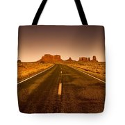 The Road To Monument Valley -utah  Tote Bag