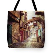 The Road To The Cross  Jerusalem Tote Bag